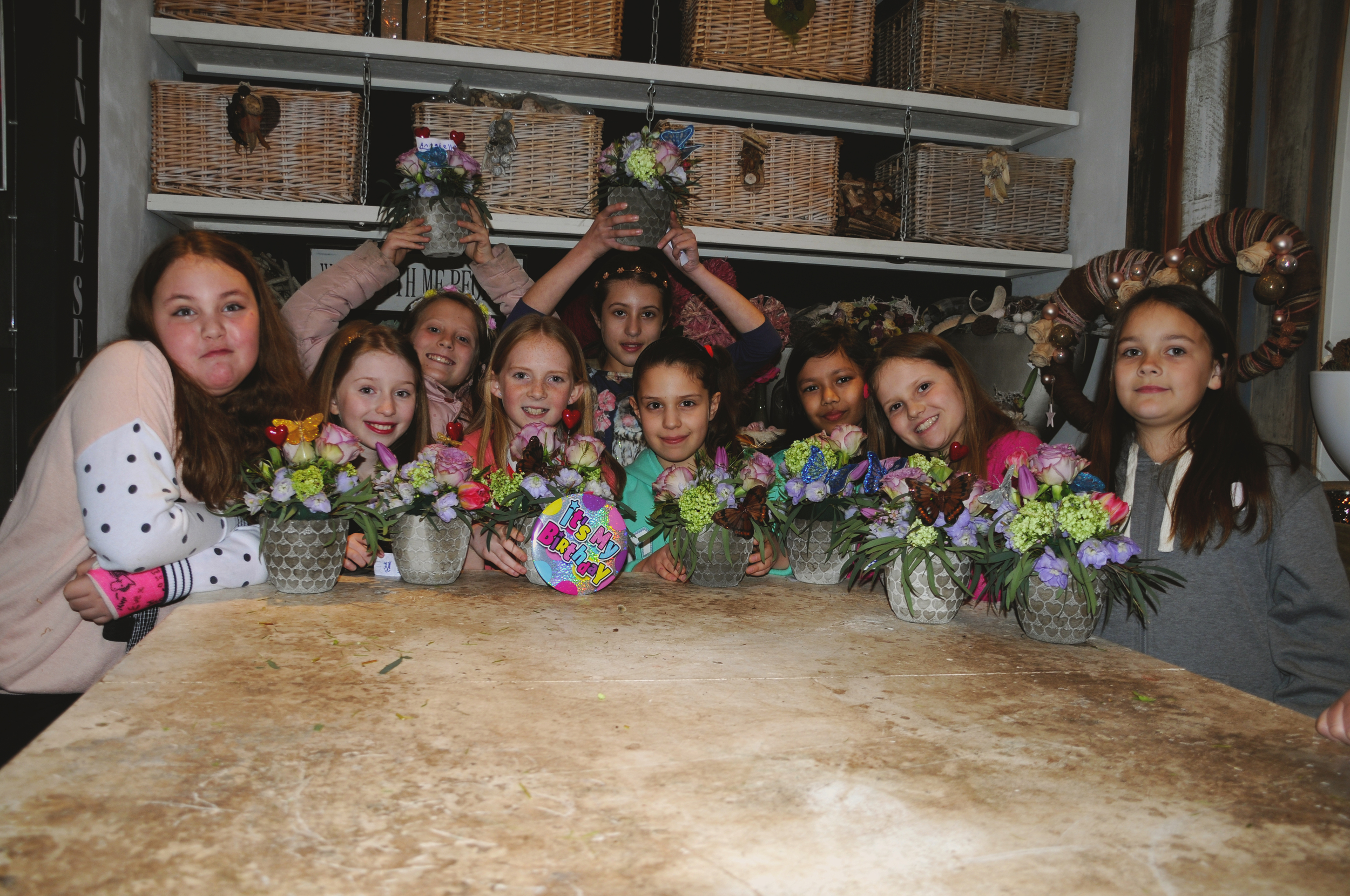 Dutch Floral Design childrens parties at All in One Season