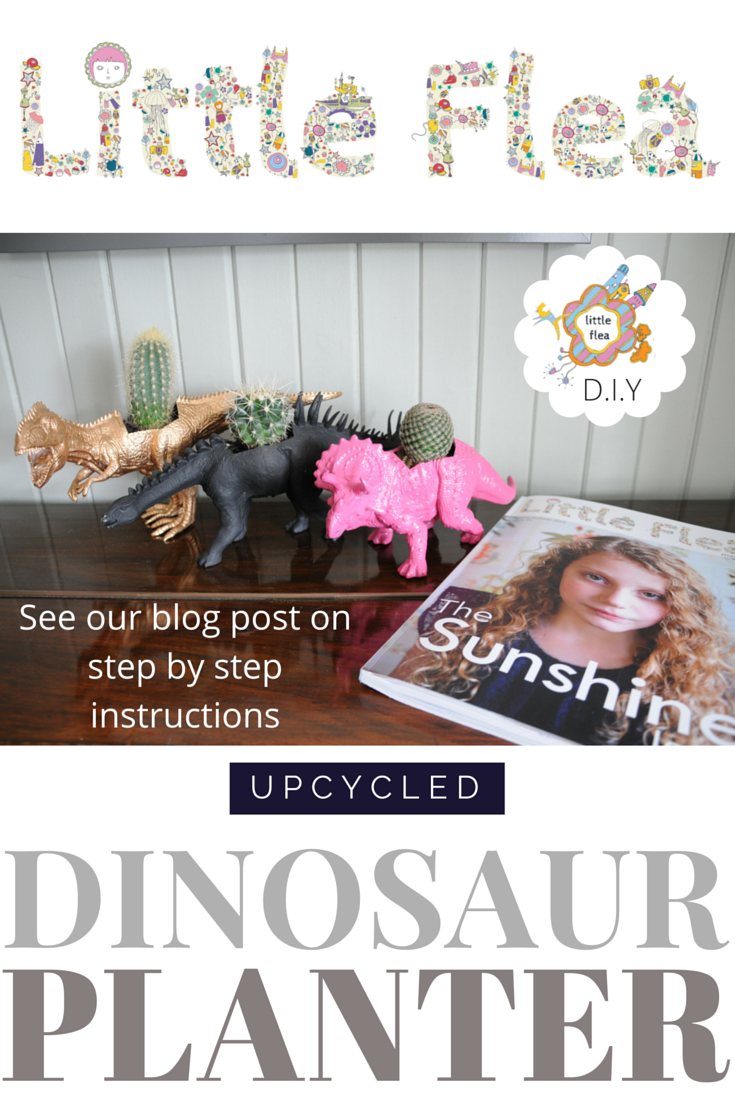 pinterest post on dinosaur plant pots
