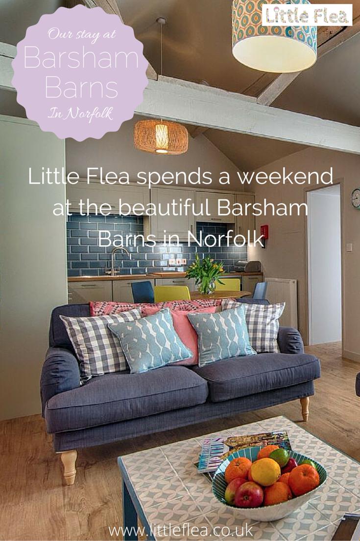 pinterest image of barsham barns blog