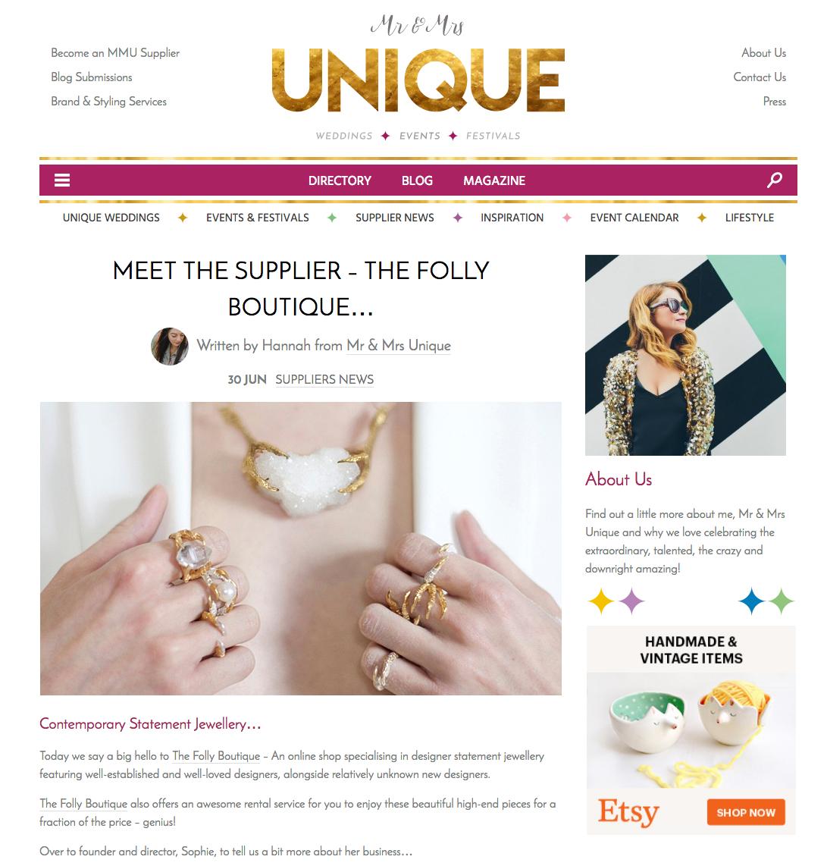 Mr & Mrs Unique blog