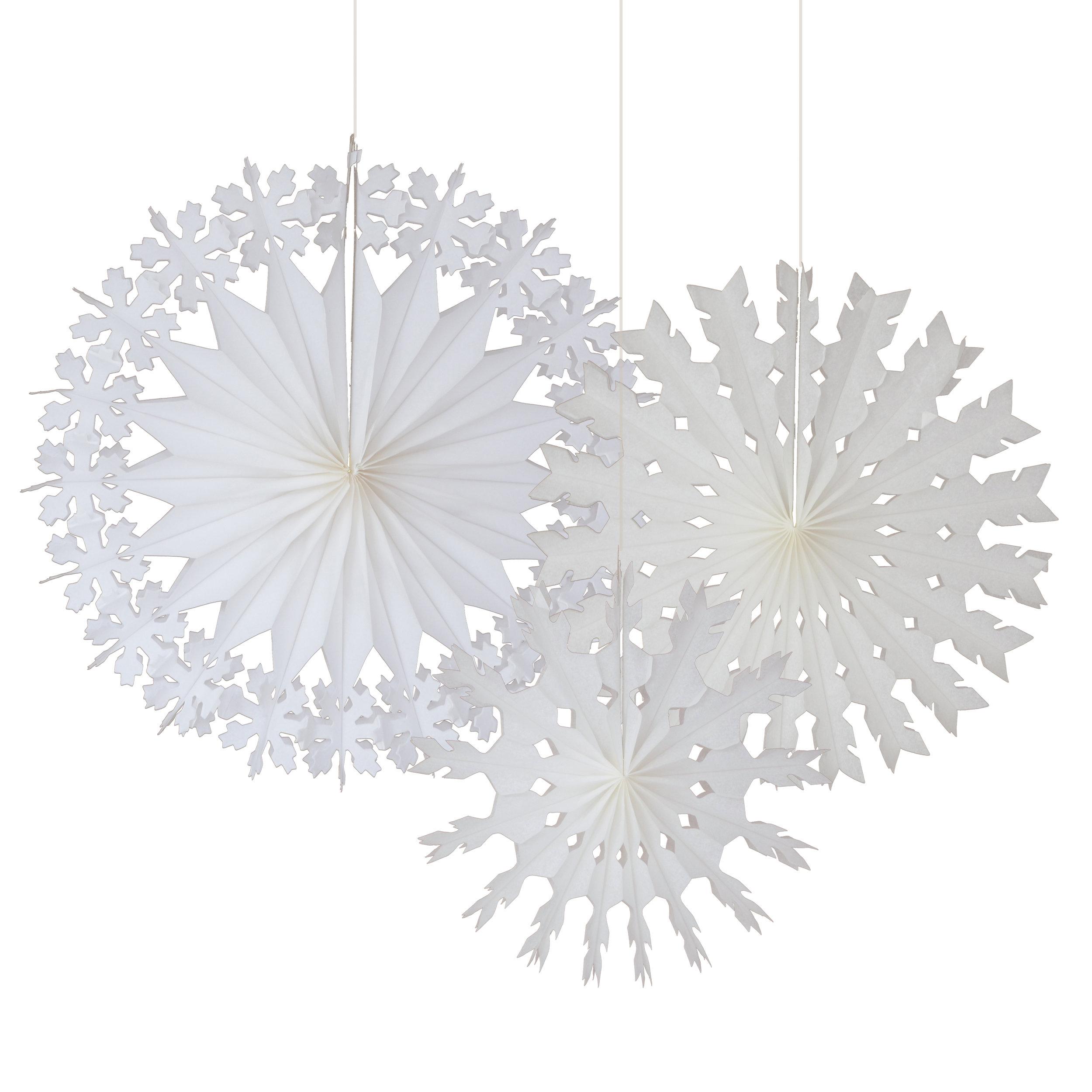 Engel 3 large snowflake decorations