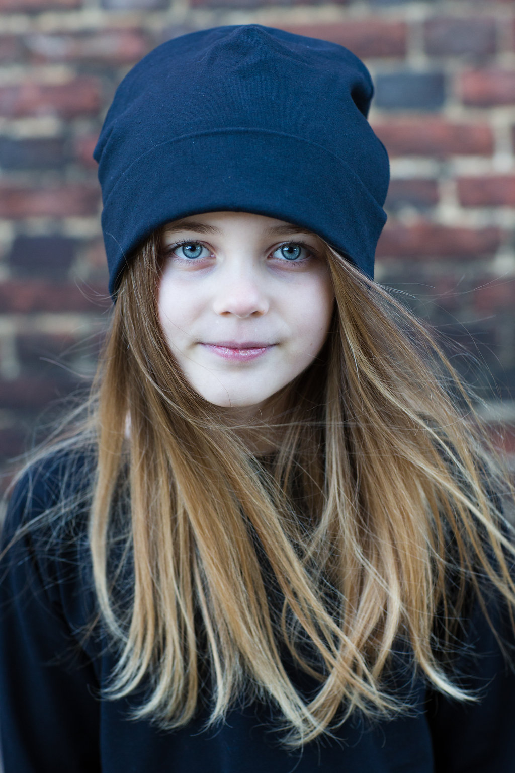 Papy kids clothing. Black hat, top, zip up sweat and stripy leggings