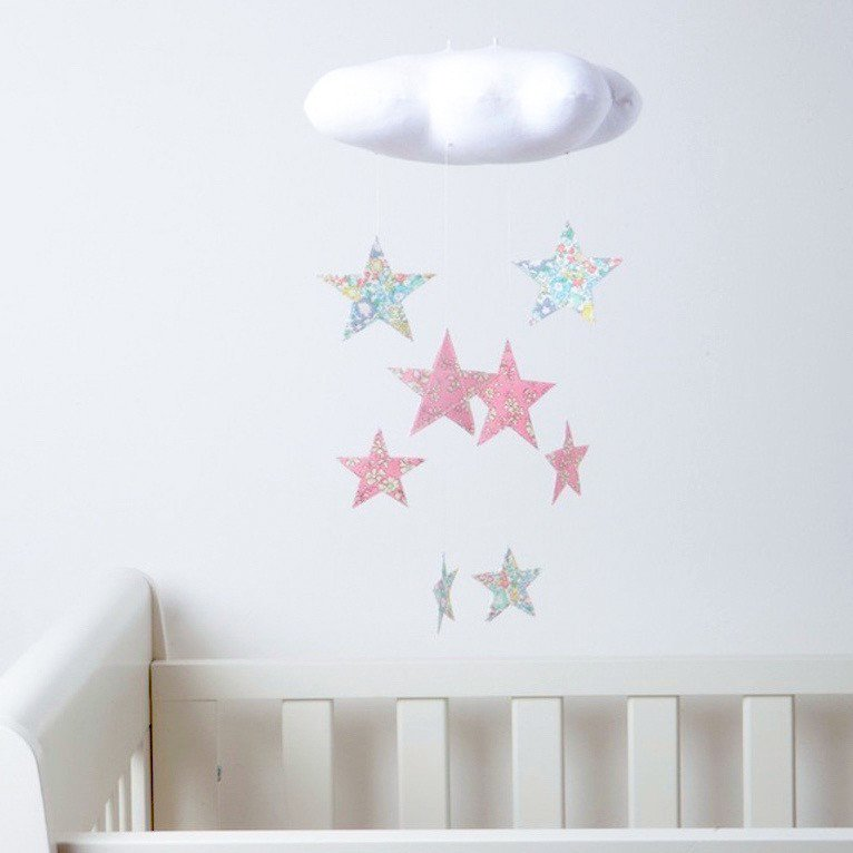 Willa and Bobbin cloud and stars mobile