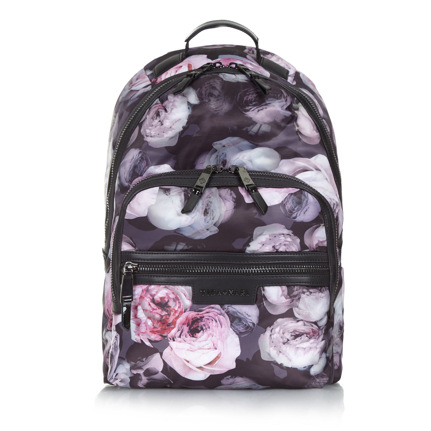 Tiba and marl Goth floral backpack