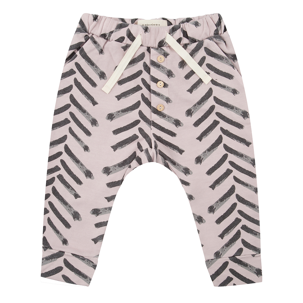 Little Indians brush stroke baby trousers