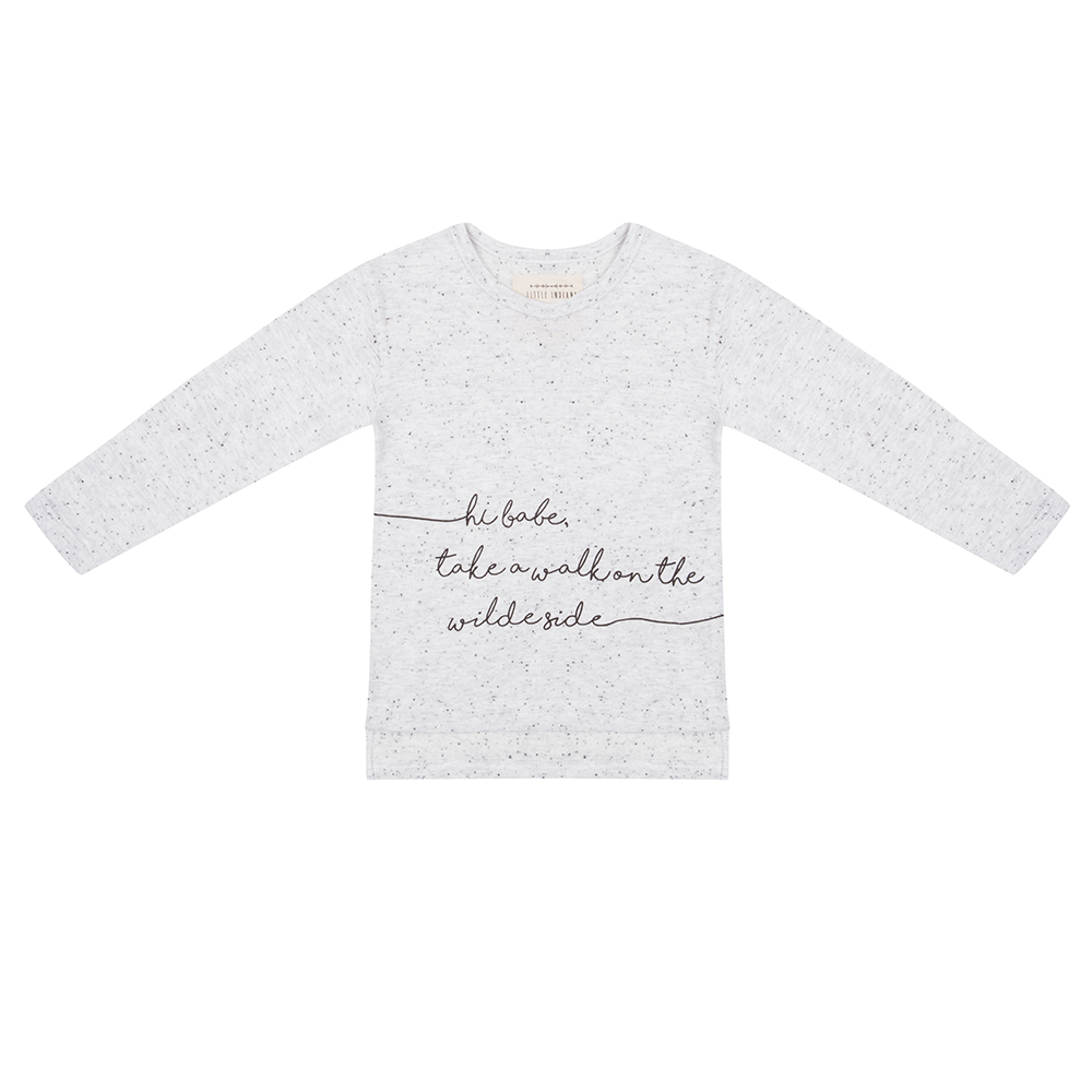 Little Indians childrens white take a walk on the wild side top