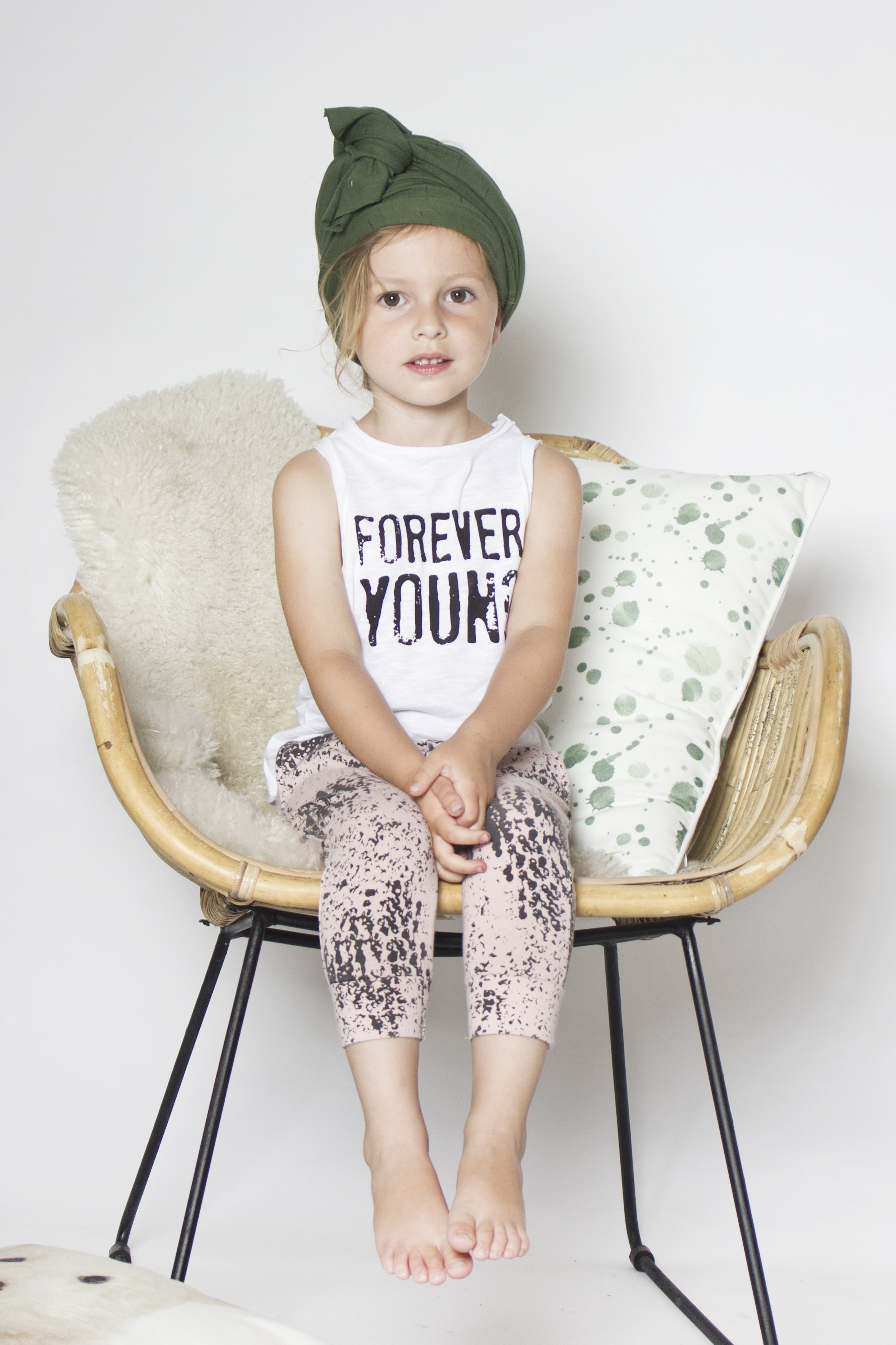 Little Indians forever young vest and World Pants - Veiled Rose