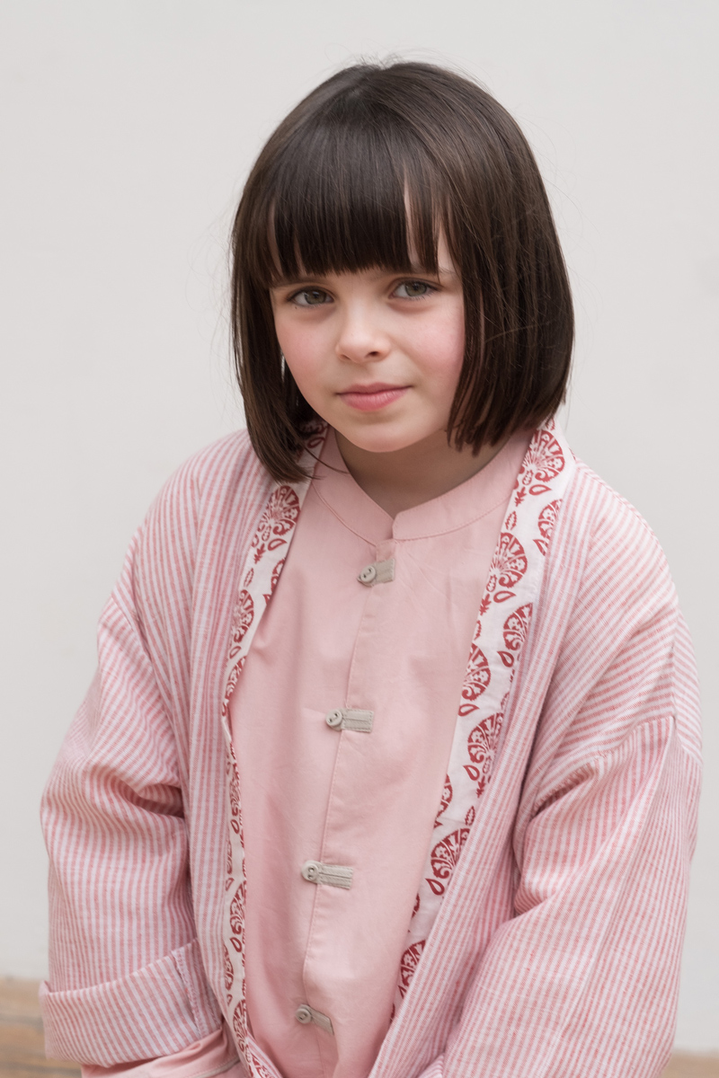 Atticus and gilda pink dressing gown and pyjamas