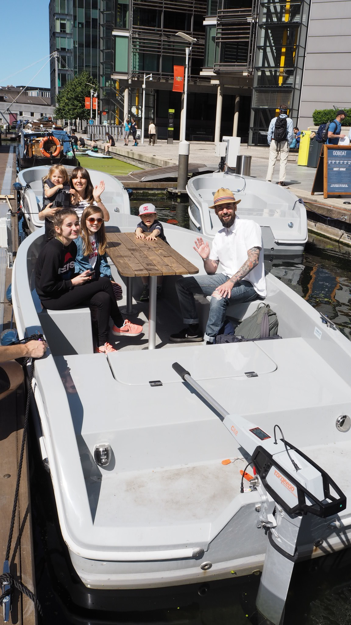 Family trip on the London canals with GoBoat London for Little Flea blog