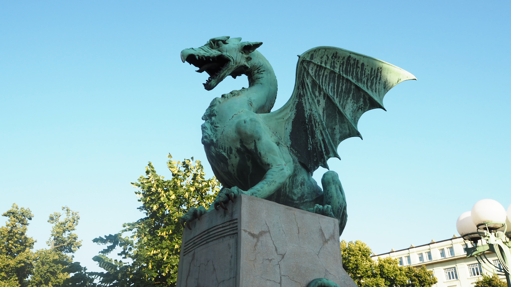 Dragon bridge on Ljubljana Slovenia