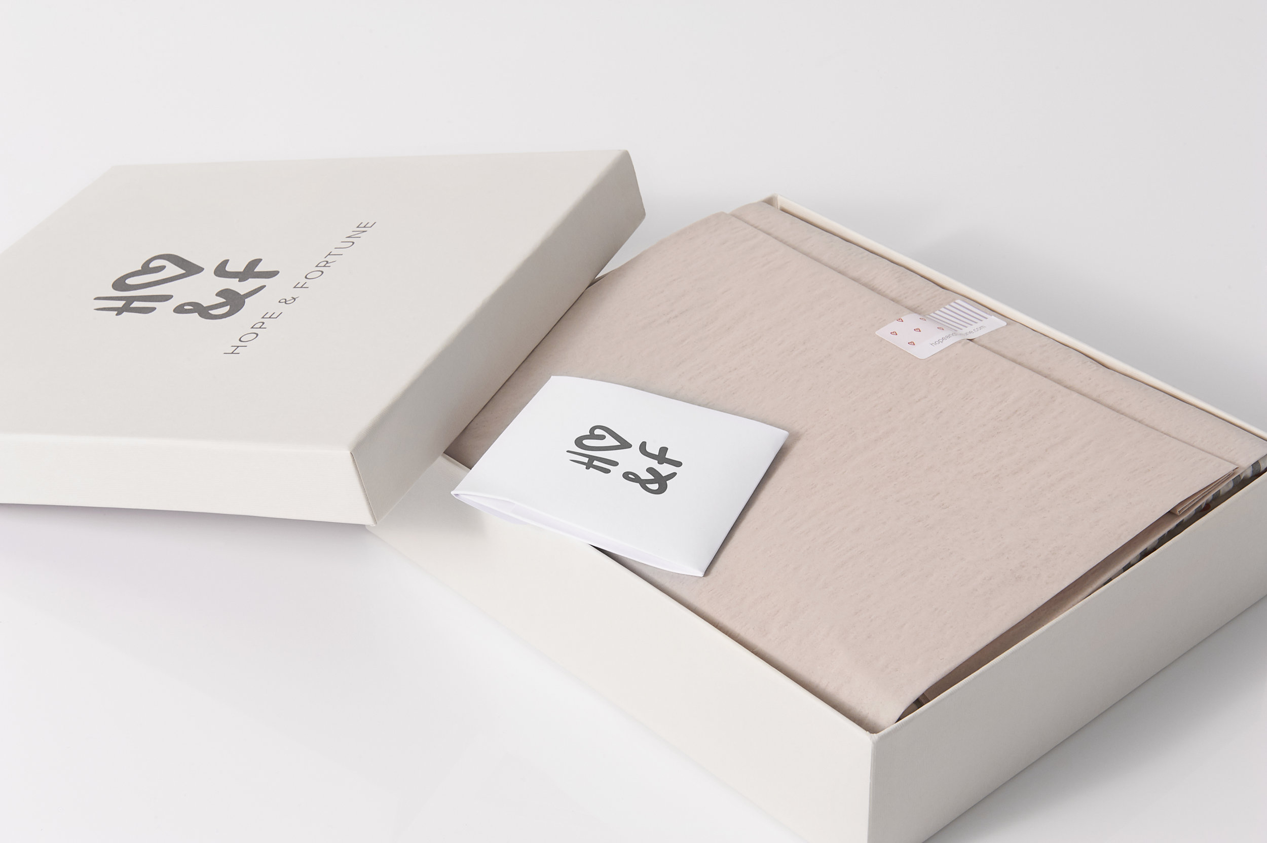 Hope and Fortune packaging
