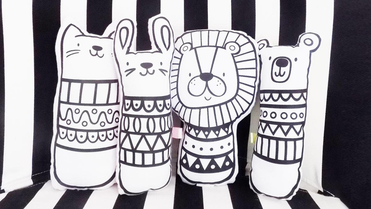 Sosoyoyo soft animal monochrome toys
