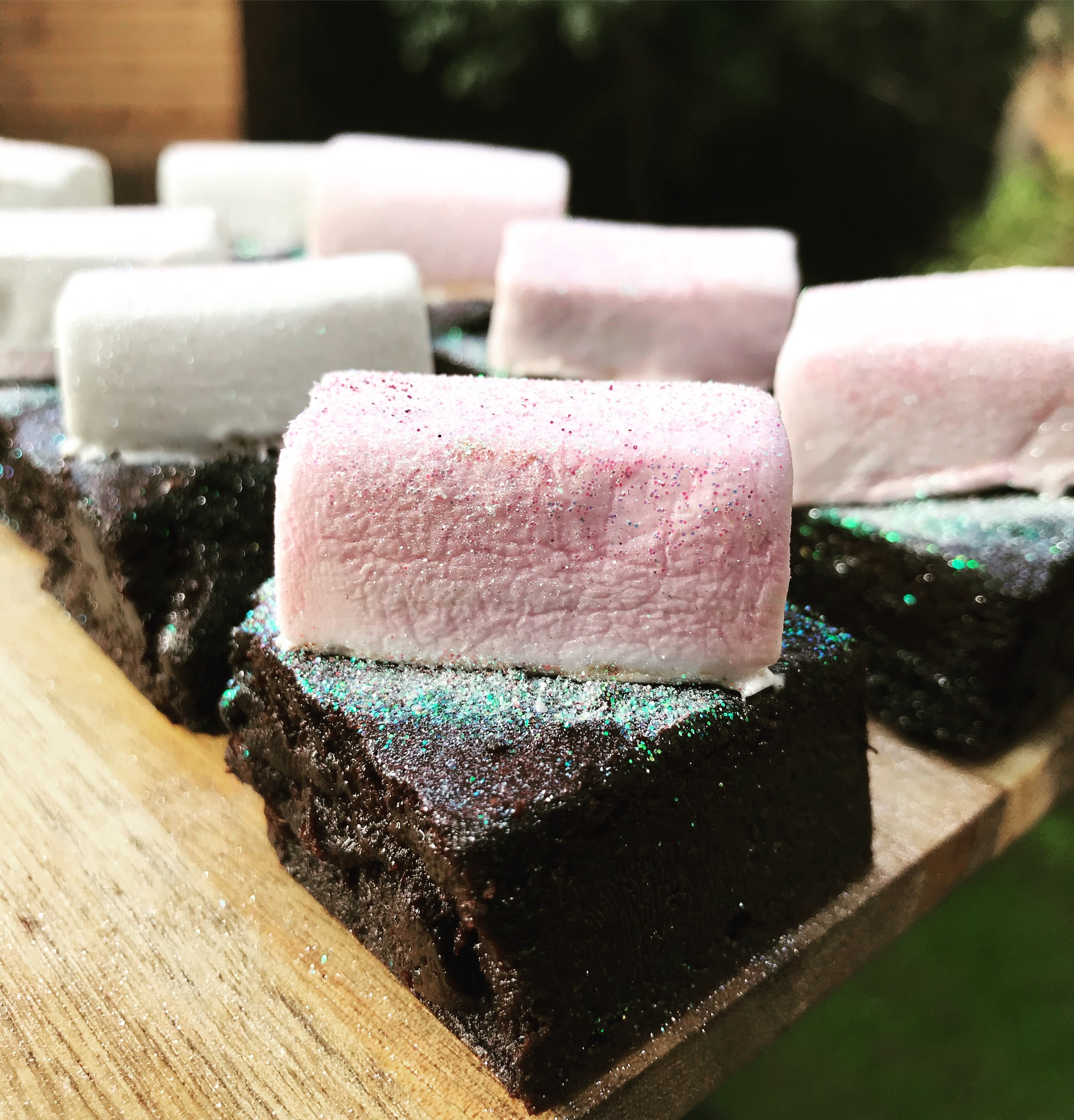 Pink Glitter Marshmallow brownie