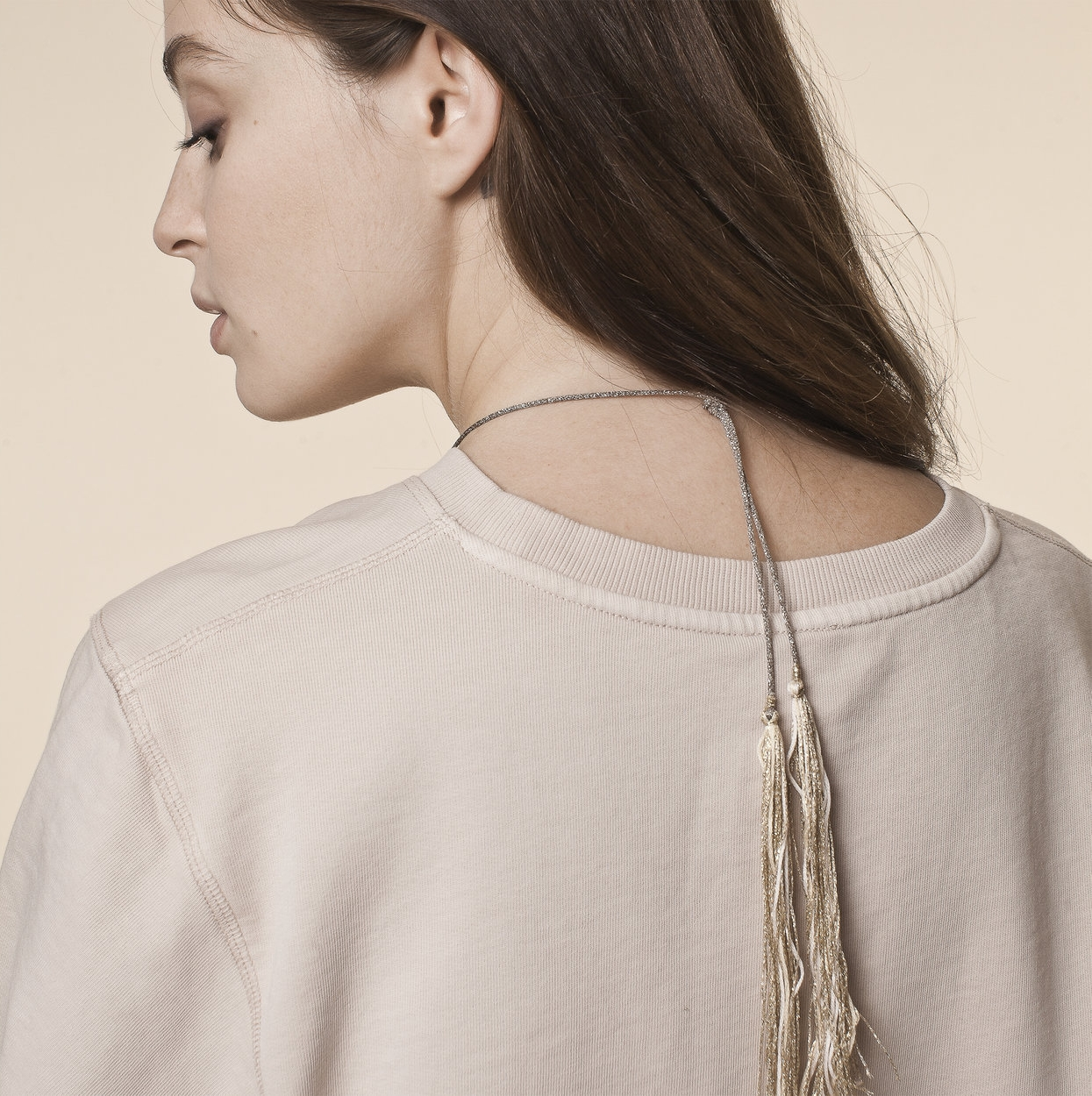 back of the Joy pregnancy cord necklace from Ilado paris