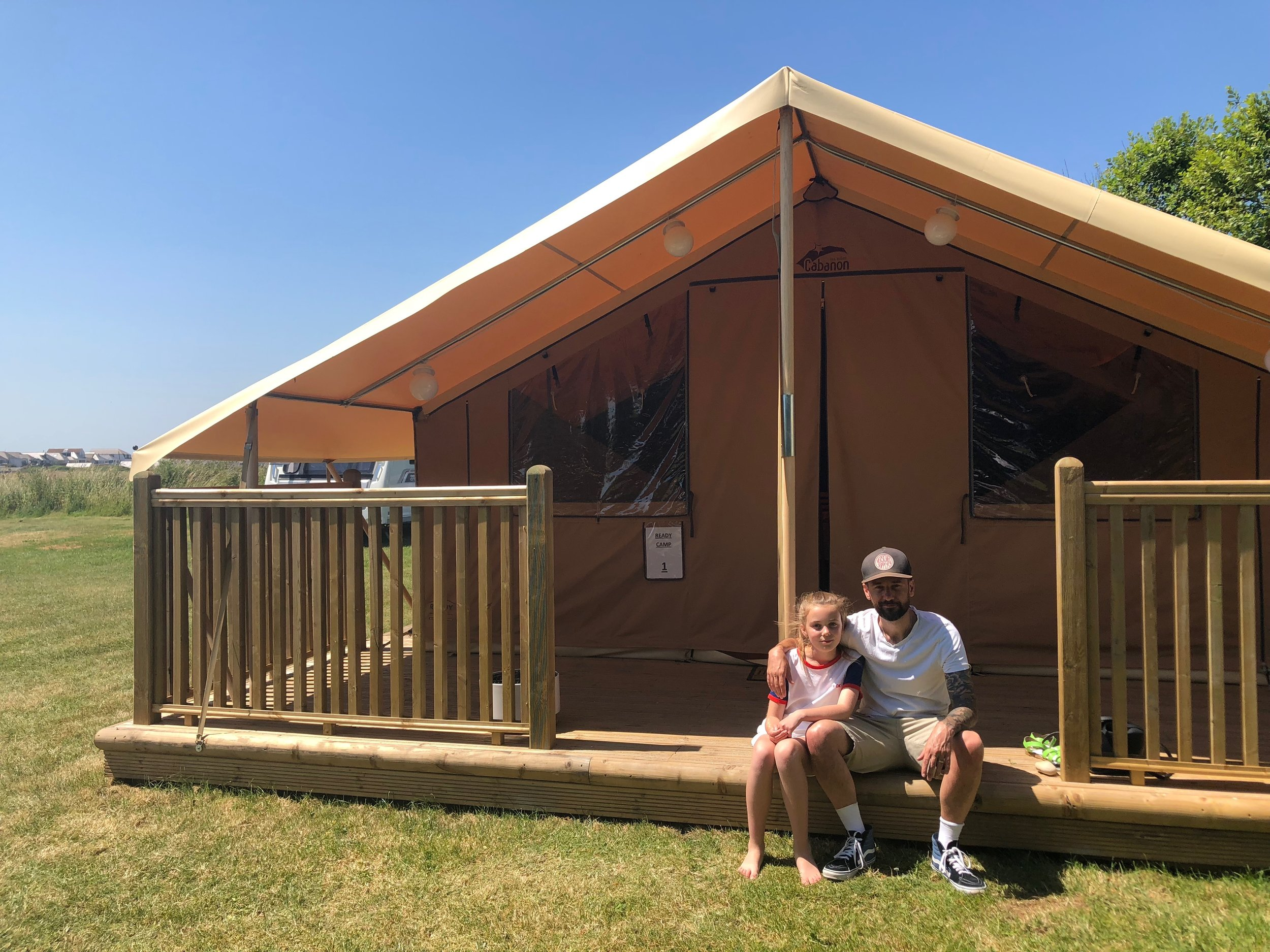 Ready Camp UK Eastbourne decking area
