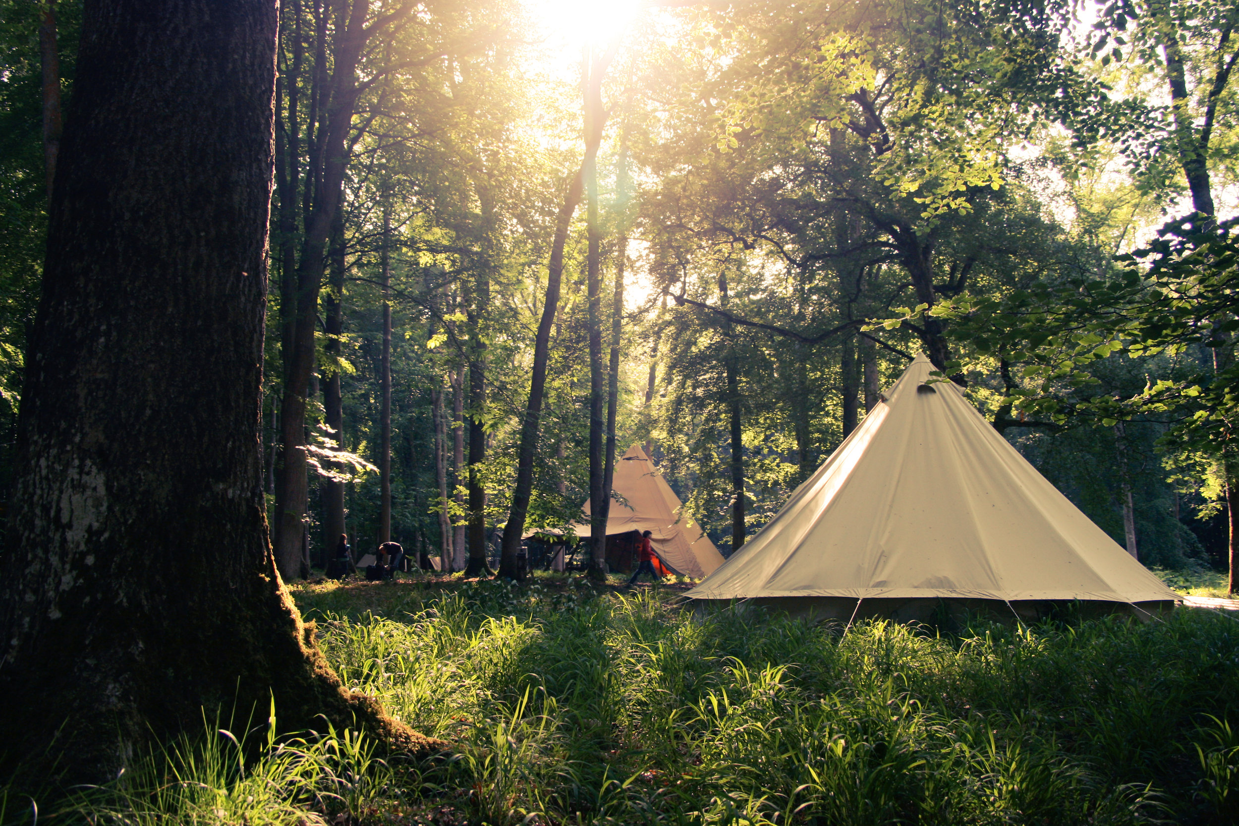 Camp Wilderness summer camps for kids. Tipi bell tents
