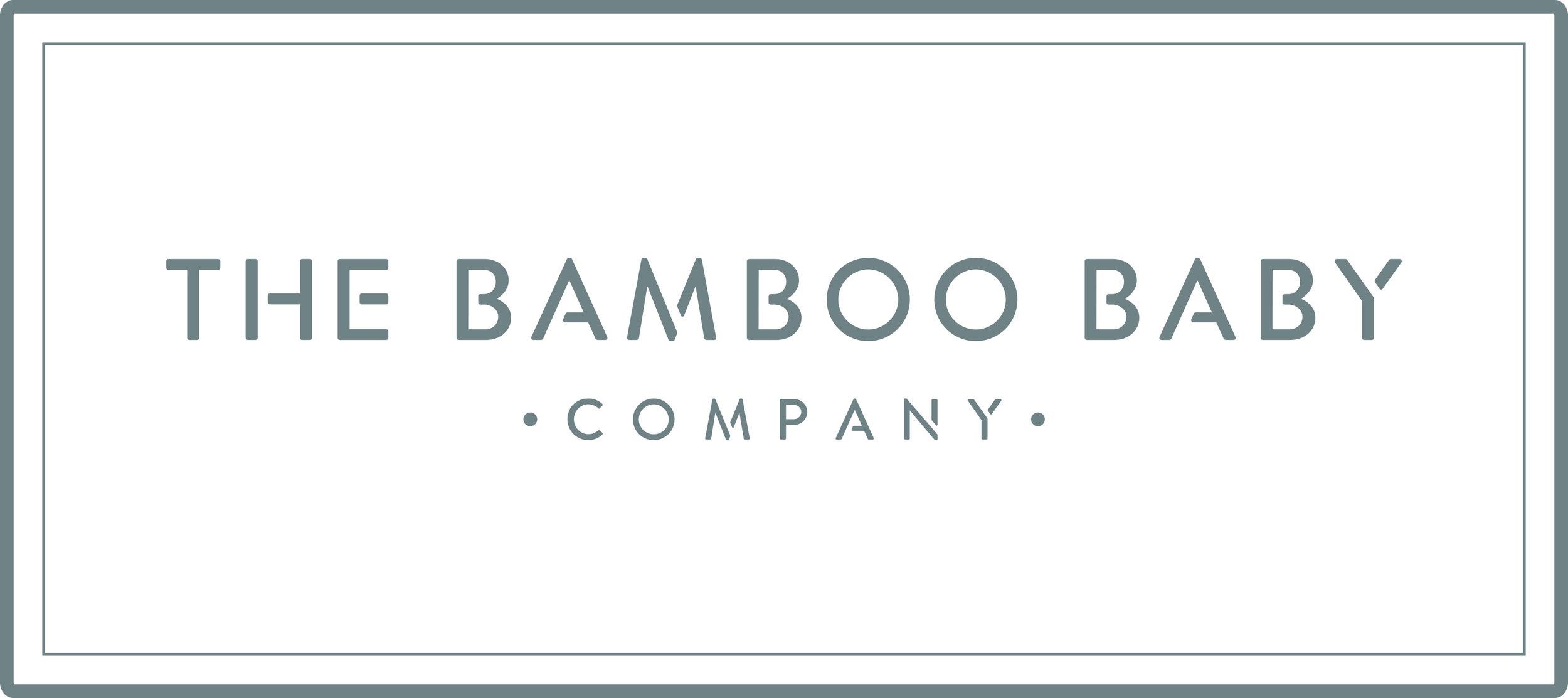 Bamboo Baby Logo – Spot Colour (425U)