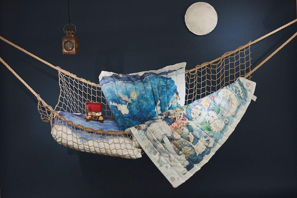 Forivor legends of the sea illustrated quilt
