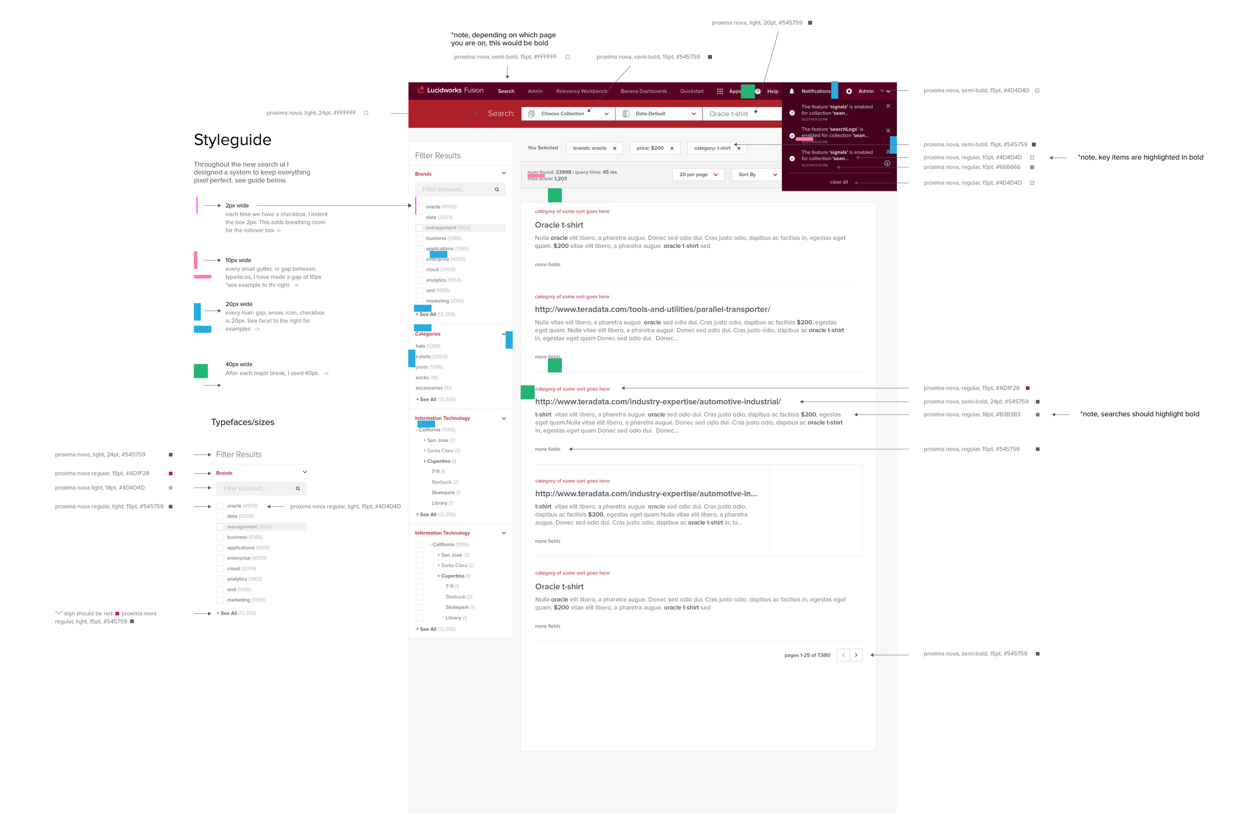 Fusion 1.0. Making a styleguide per feature.