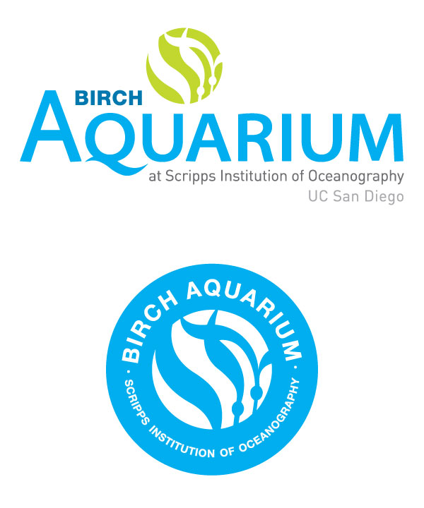 Branding / Logo Identity for Birch Aquarium. This was a team effort and countless iterations of this logo. This was the final.