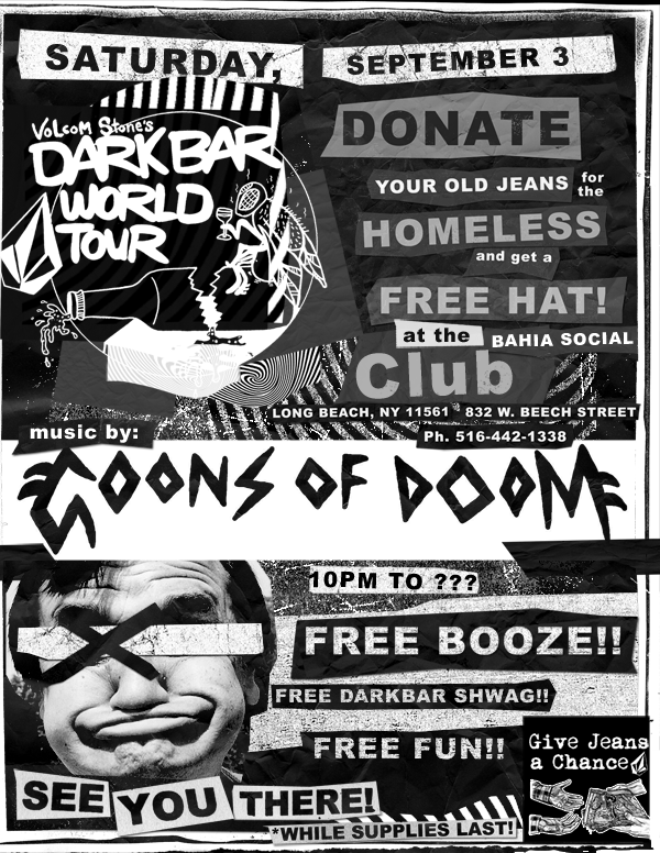 Concert poster for Volcom in NYC.