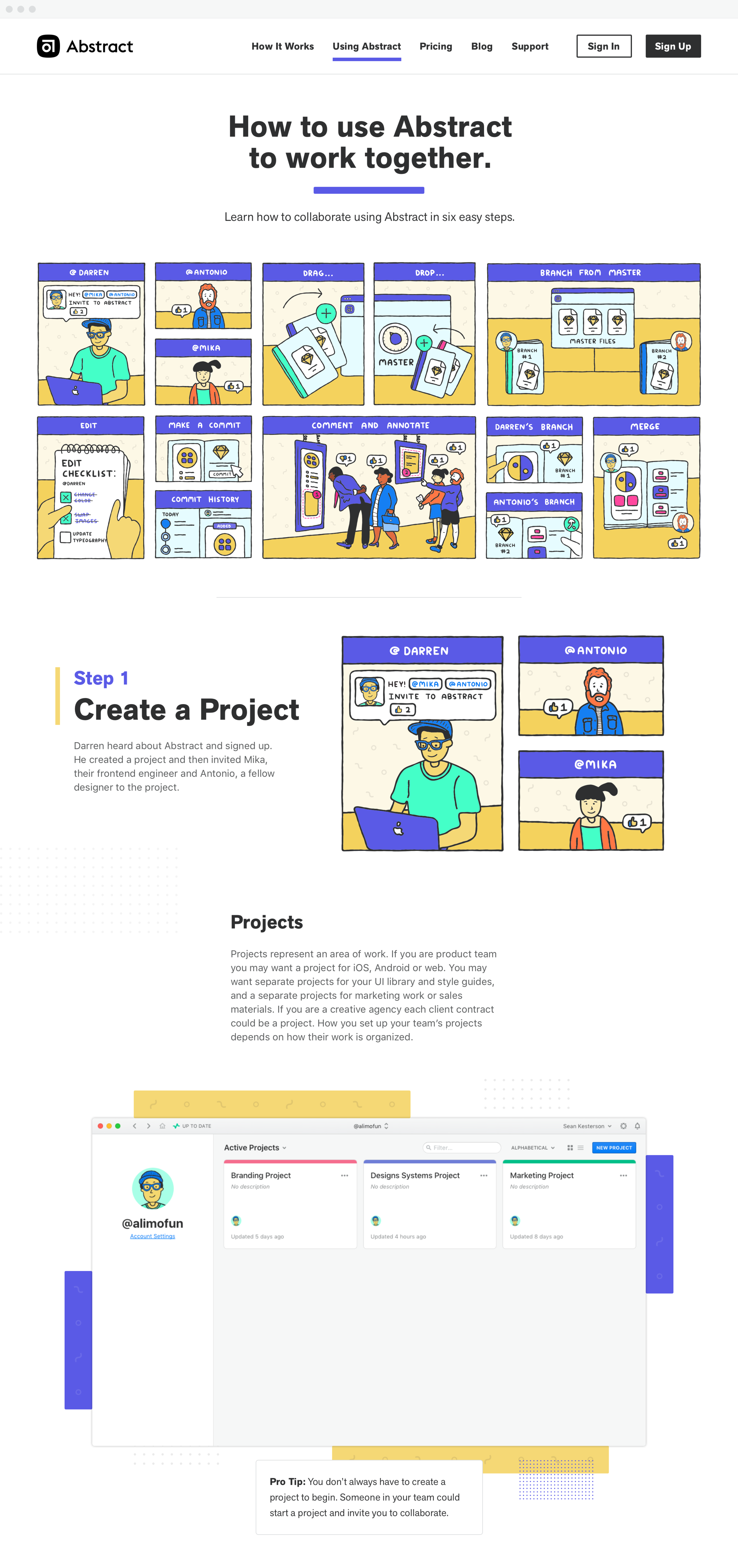 'How It Works' page starting to come together.