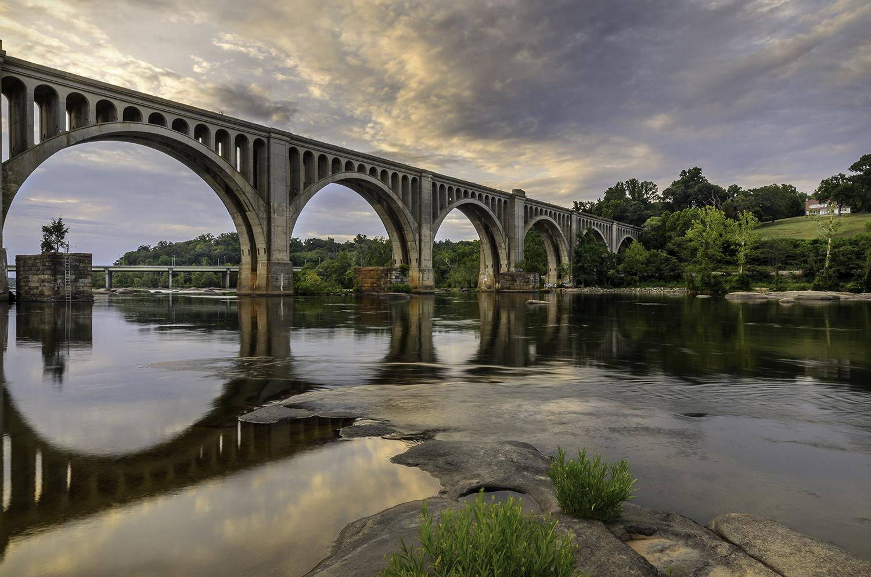 Richmond Train Bridge Sunset