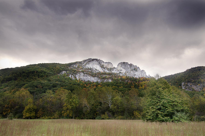 Seneca Rocks in Fall