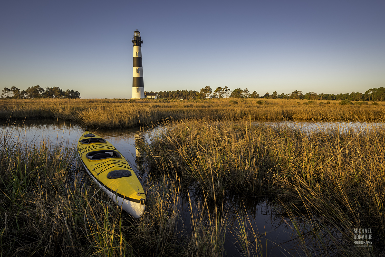 """Sun-Kissed """"Bodie Island Lighthouse"""" by Michael Donahue"""