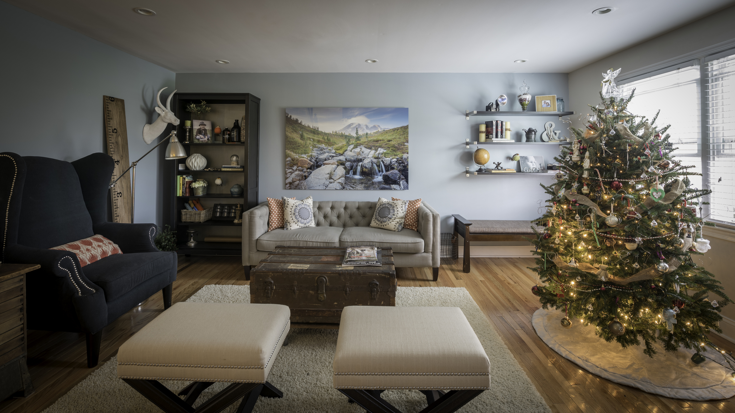 Living Room made up for Christmas