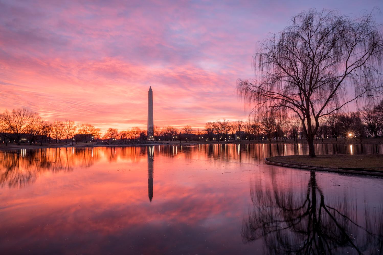 Blazing Skies Over D.C.