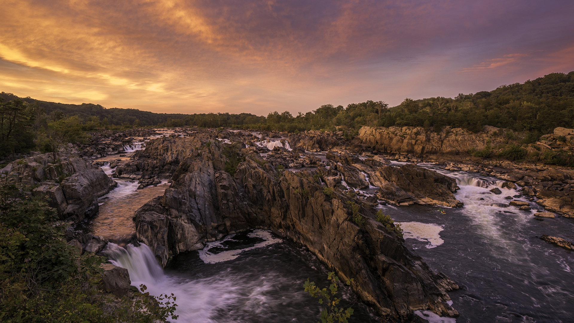 Great Falls Great Sunset