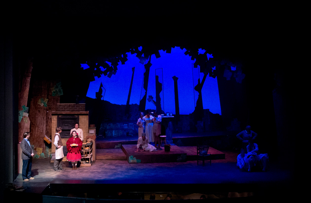 Act 1: Opening, Little Red's entrance