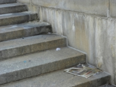 The stairs on the NYC Federal Courthouse.