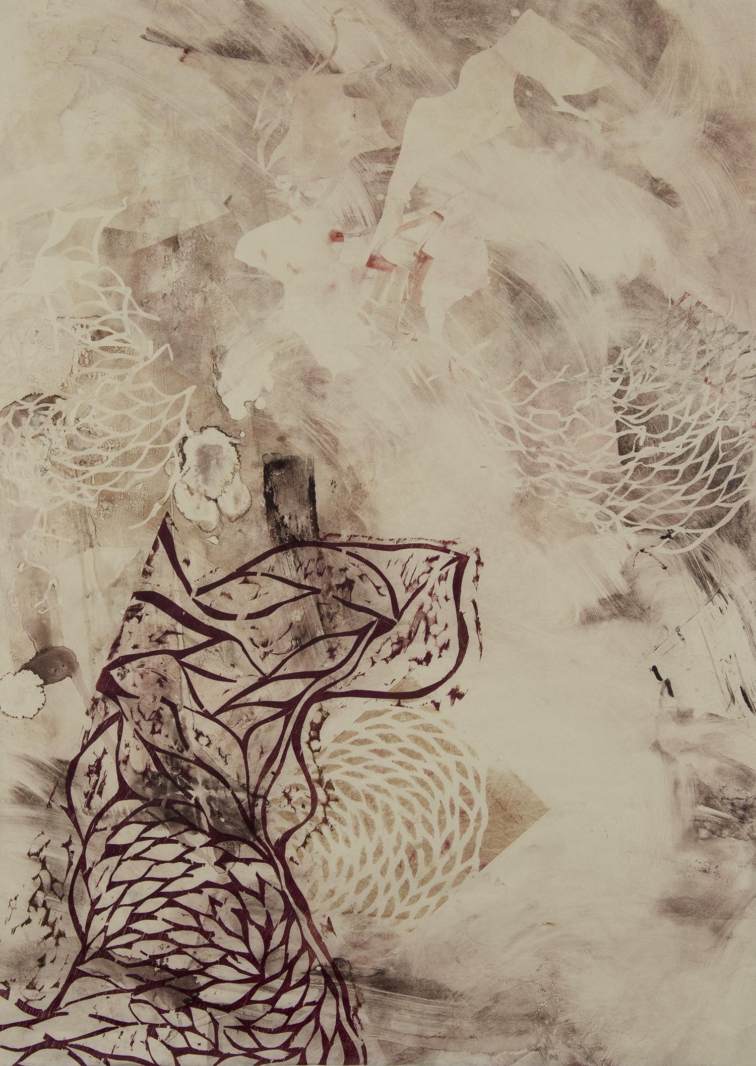 """Soak in Bleach  Woodcut on paper, 32x24"""", 2013"""