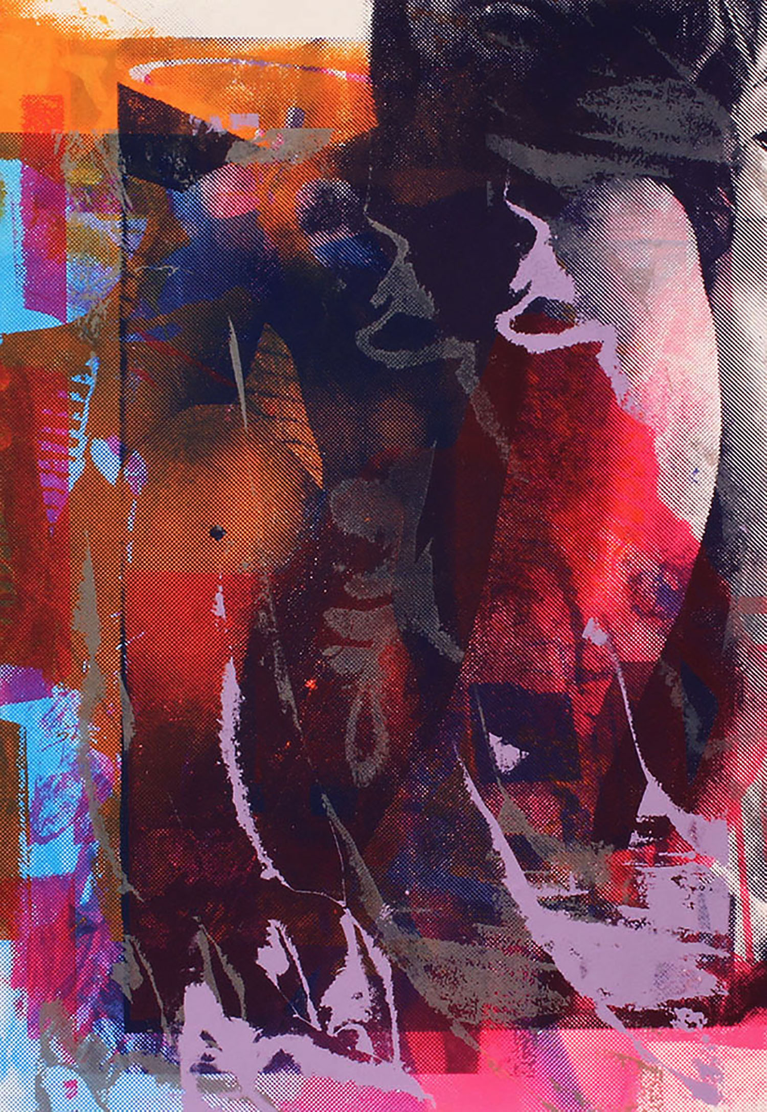 "Crouching  Figure Screenprint, 16x14"", 2015"