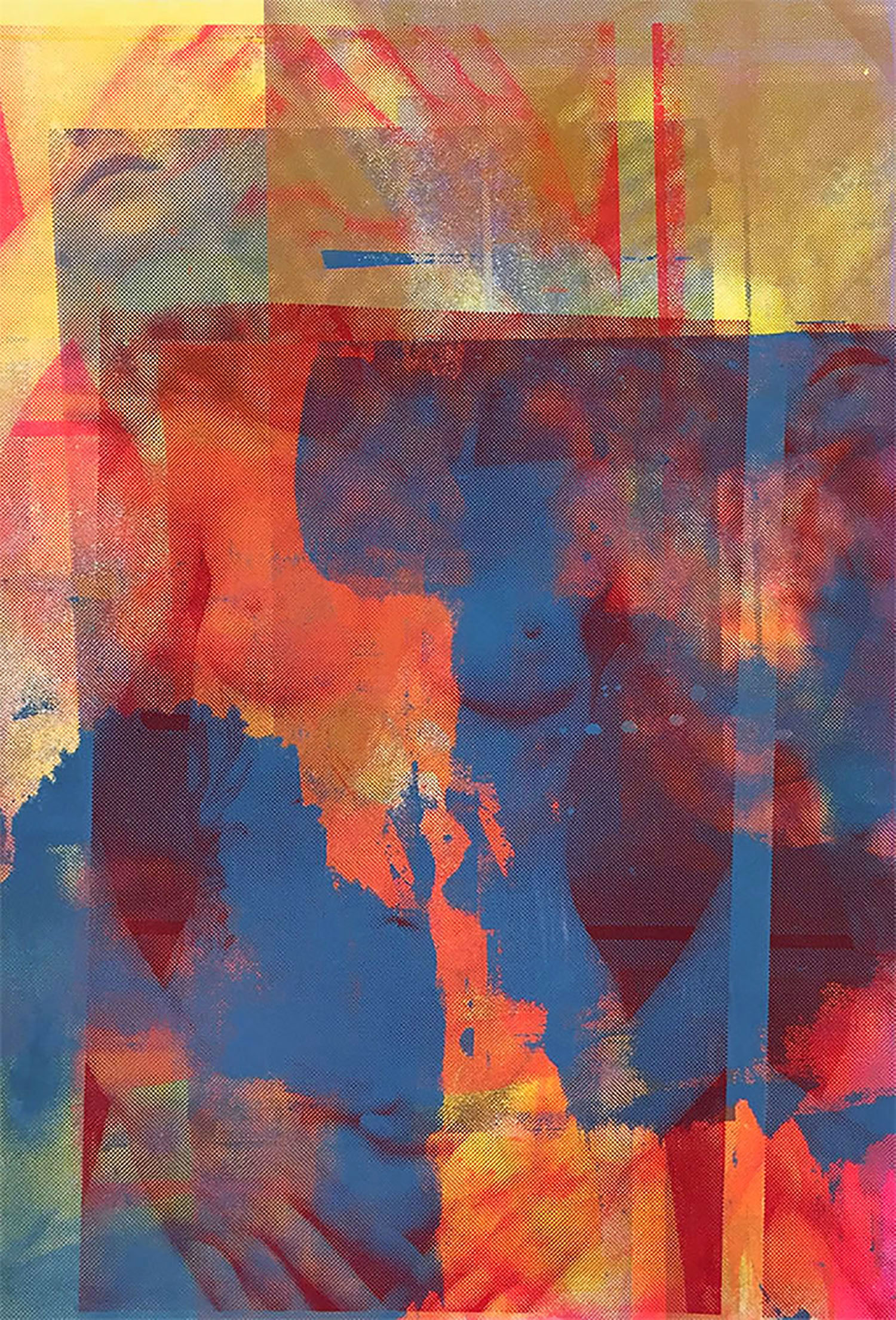"""Hands S creenprint, 21x14.5"""", 2015"""