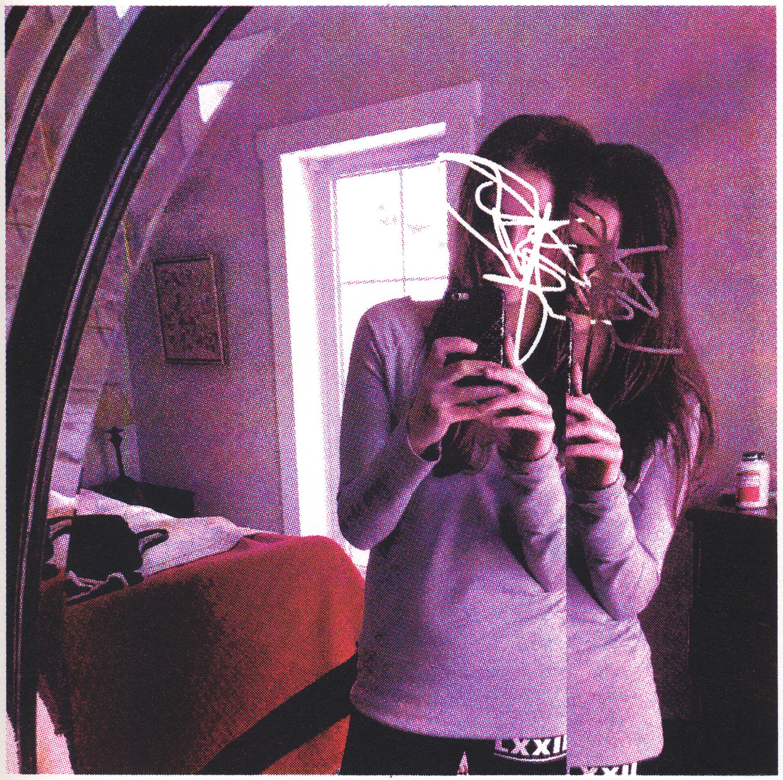 """Mirror at Jay Peak  Editioned Screenprint, 8x8"""", 2016"""