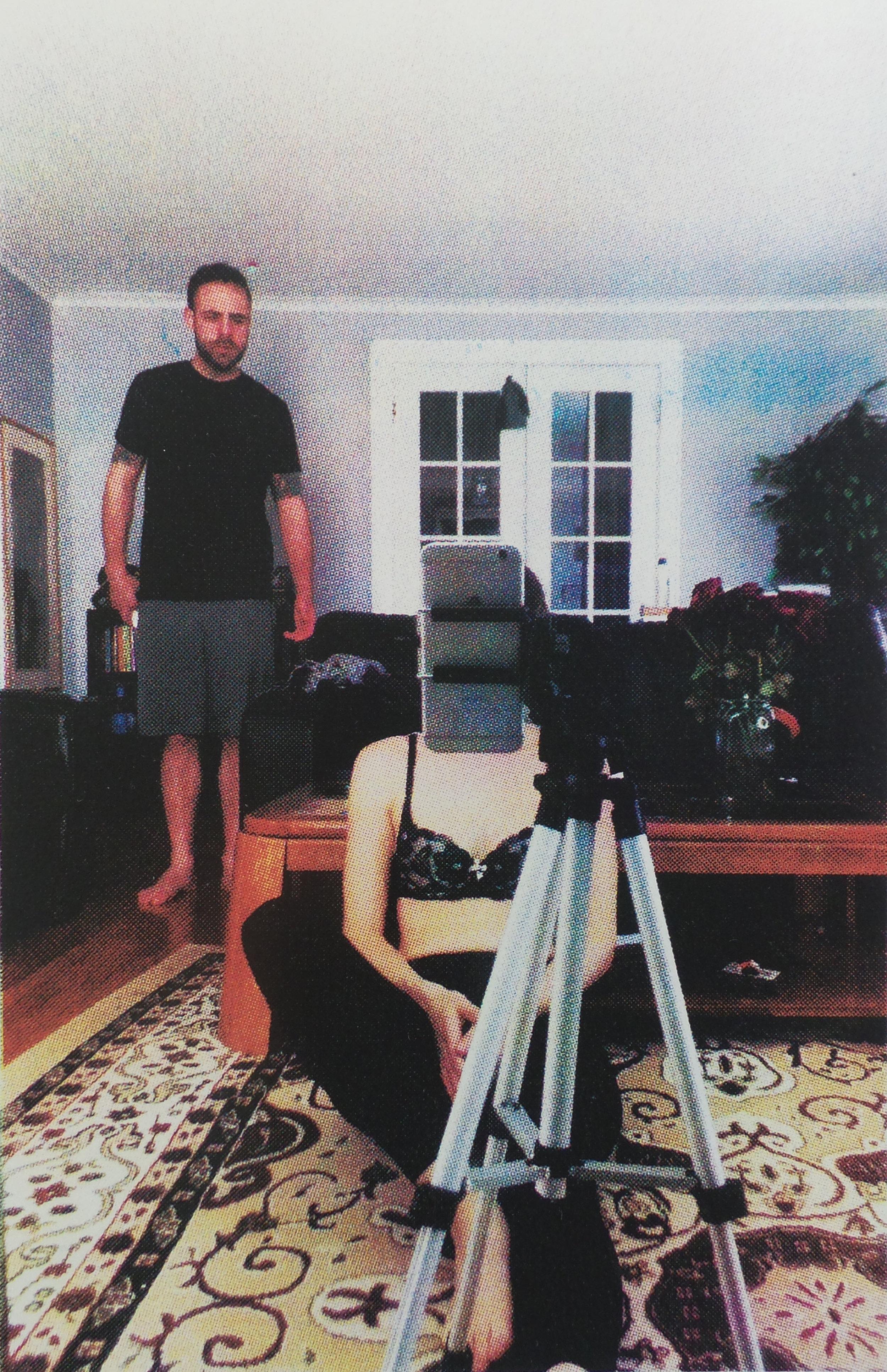"Living Room w. Roses Editioned  Screenprint, 9x6"", 2016"