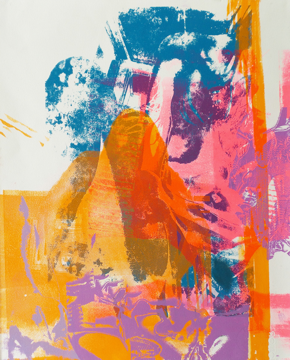 "Lace  Screenprint, 18.5x15"", 2016"