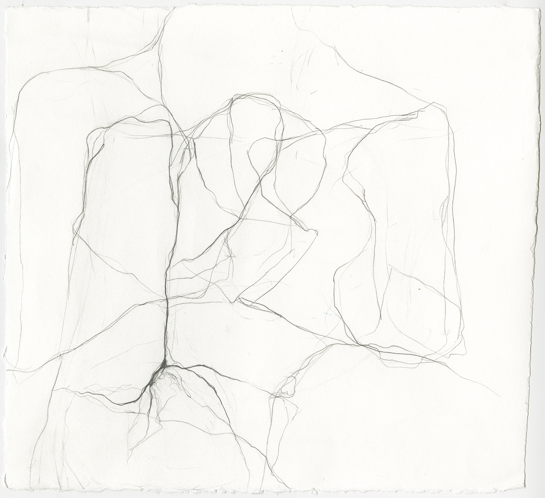 "Sleeping Alone  Graphite on paper, 12x11"", 2018"