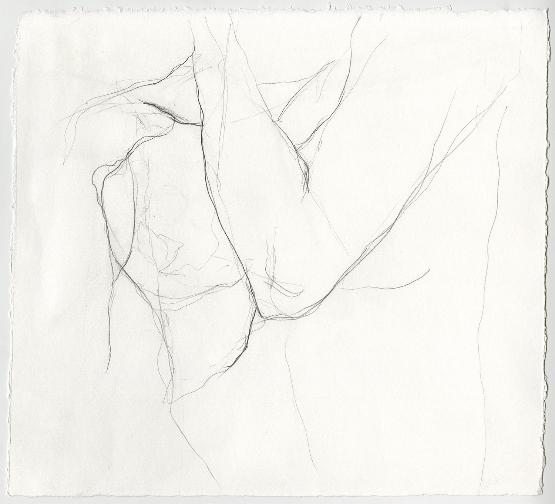 """Regret  Graphite on paper, 12x11"""", 2018"""
