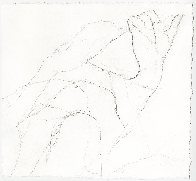 "Lying Awake  Graphite on paper, 12x11"", 2018"