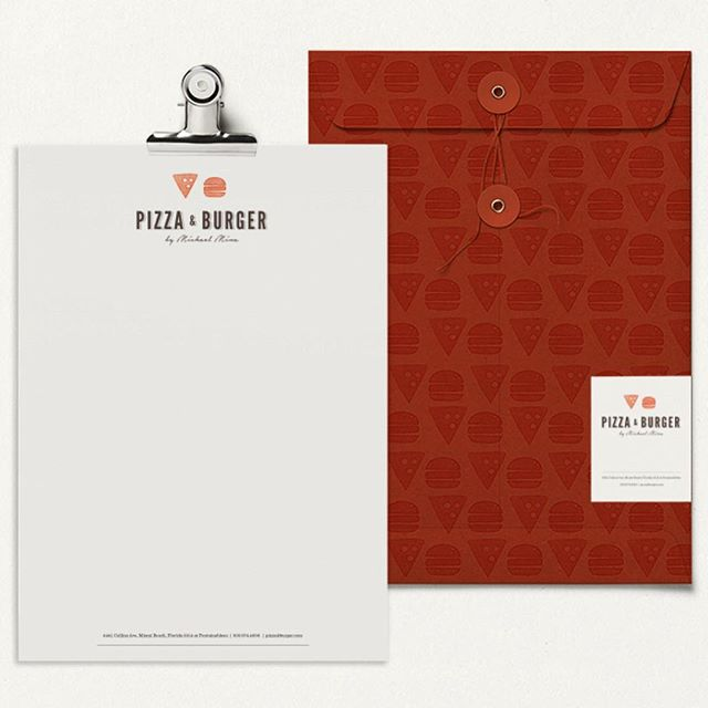 Sending you a letter about pizzas and burgers. #letterhead #wednesdayseven #creativeagency