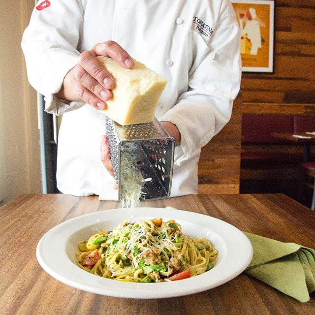 #Friday is officially here and what better way to wind down after the long week than with something tasty? Try our #basil #pesto #linguine, with sausage, asparagus, tomatoes and Parmesan. Top it off with a glass of our @stagsleapwinecellars Chardonnay and you're good to go! #buonappetito . . . #italianfood #bayareaeats #homemade #forkyeah #eeeeeats #zagat #eater #eatersf #huffposttaste #foodpornshare #topcitybites #eatdrinksf #topfoodnews #officialfoodgroup #foodstagram #dailyfoodfeed #foodbassador #buzzfeedfood #sfeats #huffposttaste #thefoodgasmguide #eatforfeats #madefromscratch #fromscratch #fresh #buonappetito