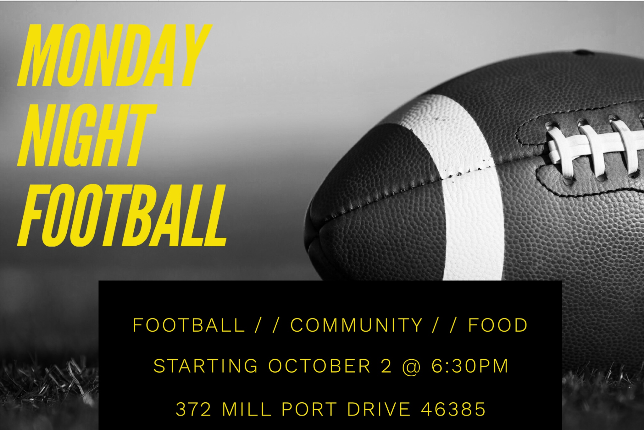 Fall Men's Bible Study - 6:30 p.m. - halftime, runs for 5 weeks
