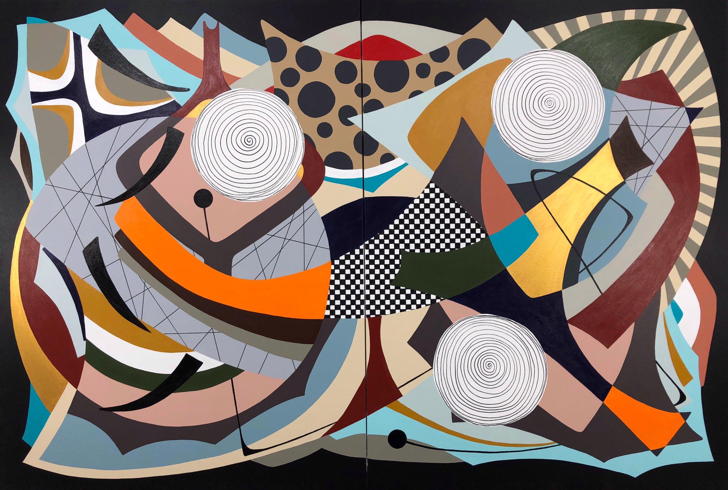 """Momentum""    48""x 72""(121.9cm x 182.8) Acrylic on canvas"