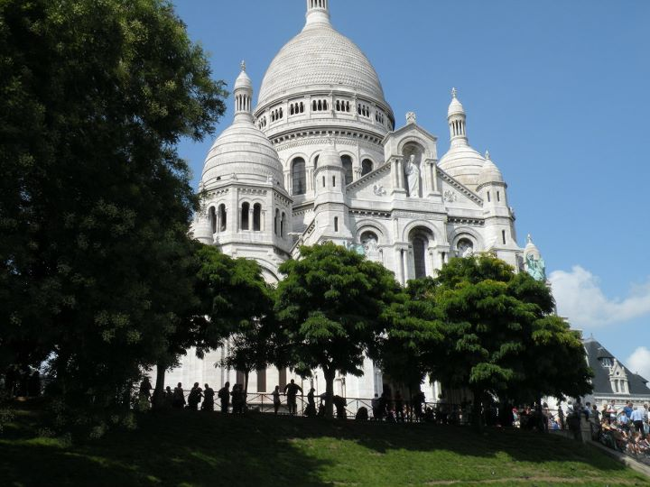 The Sacre Coeur in Paris' Latin Quarter. This is one of my own photos, and a personal favorite memory.
