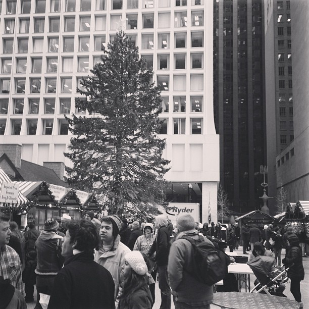 Daley Plaza Kriskindlemarket in Chicago. Photo is my own from a trip back home a few years ago.