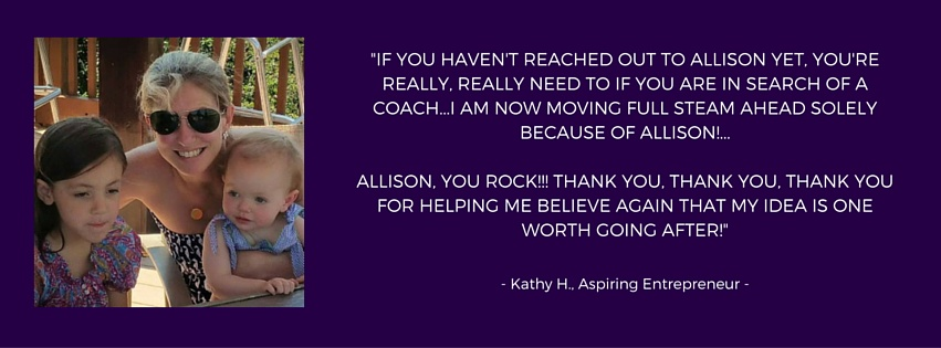 Testimonial for Allison Horner, Adventure Knocks! Business Coach